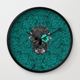 Insect Skull Wall Clock