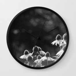 fall coneflower Wall Clock