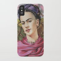 frida iPhone & iPod Cases featuring Frida by Mark Satchwill Art
