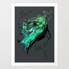 League of Legends- Thresh fanart Art Print