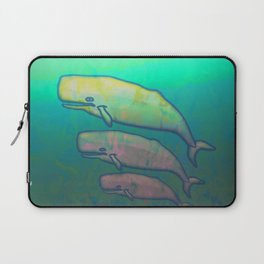 Whales Swimming Together Laptop Sleeve