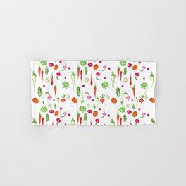 Veggie Party Pattern Hand & Bath Towel