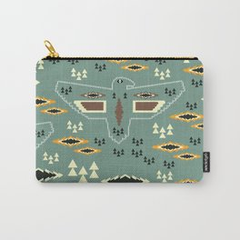 Native pattern with birds Carry-All Pouch