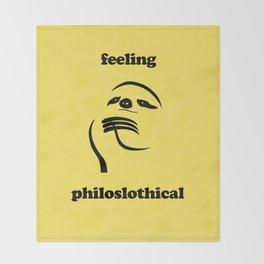 Feeling Philoslothical Throw Blanket