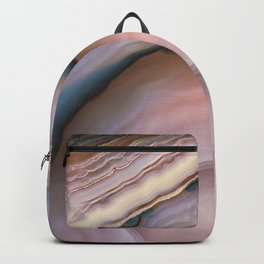 Pink and Blue agate 0425 Backpack