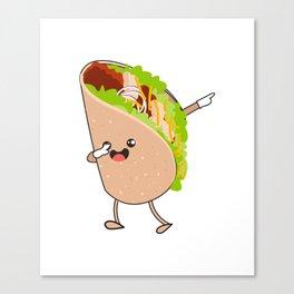 Dabbing Taco Cinco de Mayo Mexican Canvas Print