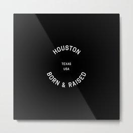 Houston - TX, USA (Badge) Metal Print