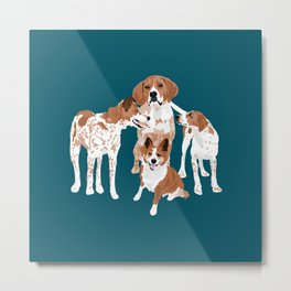Maggie Millie Maisie and Victoria Metal Print