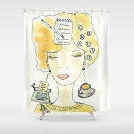 Signora in giallo Shower Curtain
