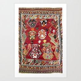 Luri Fars Southwest Persian Kilim Print Art Print