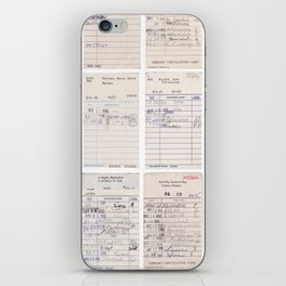 Old Friends Library Circulation Card Print iPhone Skin