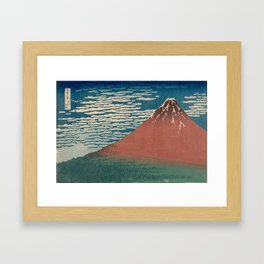Fine Wind, Clear Weather also known as Red Fuji Framed Art Print