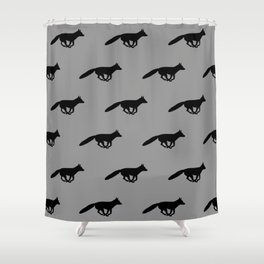 Running Fox Silhouette Shower Curtain