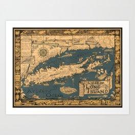 Map of Long Island Art Print