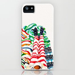 Wrapped up & Warm Tea iPhone Case