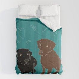 Retriever ChocoBlack Comforters