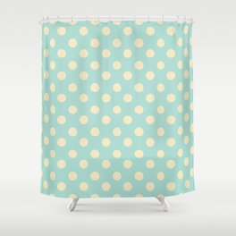 Dotted - Soft Blue Shower Curtain