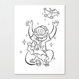 Ninja Master of Magic - ink Canvas Print