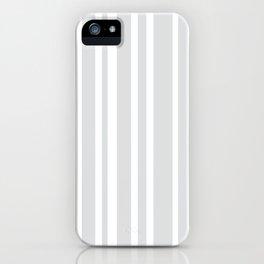 Grey Stripe Pattern | Modern Design | Minimalism | Gray iPhone Case