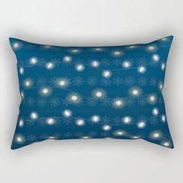 Christmas Light Blue Rectangular Pillow