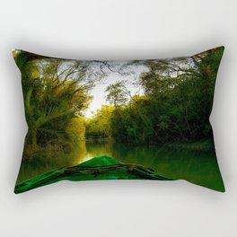 Navigating the river  Rectangular Pillow