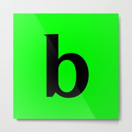 b (BLACK & LIME LETTERS) Metal Print