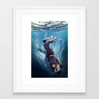 underwater Framed Art Prints featuring Underwater by MGNemesi