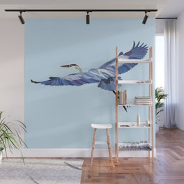 Great Blue Heron - illustration Wall Mural