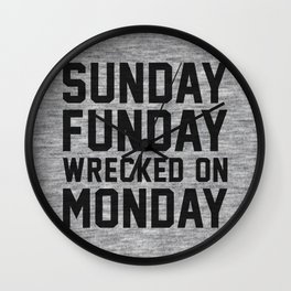 Sunday Funday Wall Clock