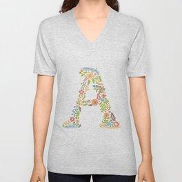 Alphabet A Unisex V-Neck