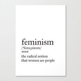Feminism Definition Canvas Print