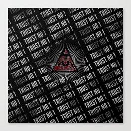 Trust No 1 Illuminati All Seeing Eye Canvas Print