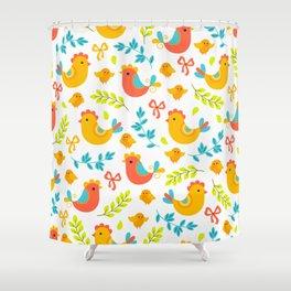 Easter Little Peeps Baby Chicks Pattern Shower Curtain