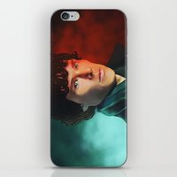 sherlock holmes iPhone & iPod Skins featuring Sherlock Holmes by DocLew