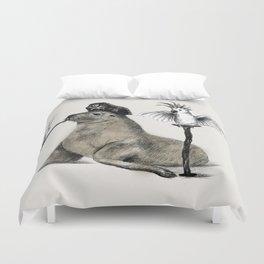 Pirate // seal parrot Duvet Cover