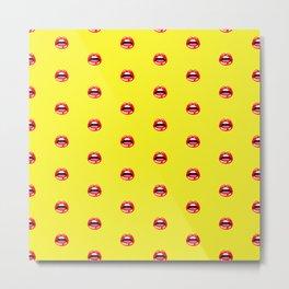 SEXY LIPS ((sunshine yellow)) Metal Print