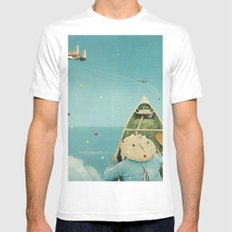Air Communication Mens Fitted Tee White MEDIUM