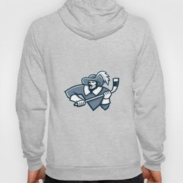 Musketeer Ice Hockey Mascot Hoody
