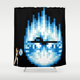 Ryu Hadouken Fireball Shower Curtain