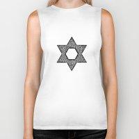 jewish Biker Tanks featuring Star of David (Jewish star) by ZannArt Originals