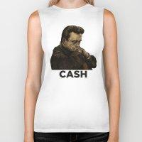johnny cash Biker Tanks featuring Johnny Cash by Philipp Banken
