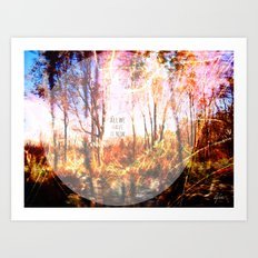 This is only Temporary by Debbie Porter Art Print