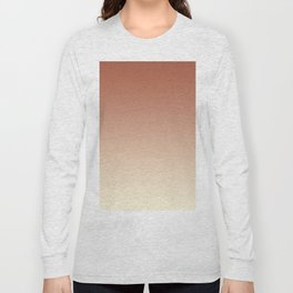 Pratt and Lambert Red River 4-21 and Dover White 33-6 Ombre Gradient Blend Long Sleeve T-shirt