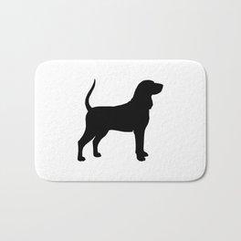 Coonhound Silhouette Bath Mat