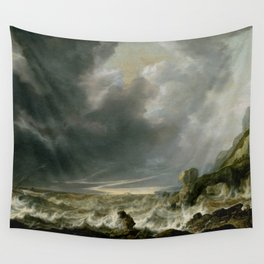 "Simon de Vlieger ""Ship in Distress off a Rocky Coast"" Wall Tapestry"