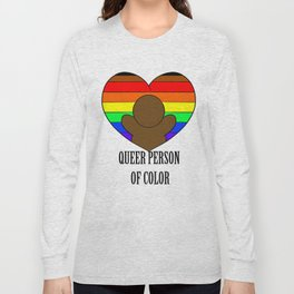 Queer Person of Color-Dark Walnut Long Sleeve T-shirt