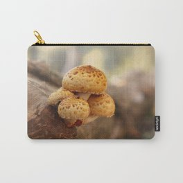 Mushrooms on tree trunk, autumn impression Carry-All Pouch