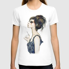 Smoke // Fashion Illustration T-shirt