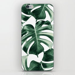 Tropical Monstera Leaves Dream #2 #tropical #decor #art #society6 iPhone Skin