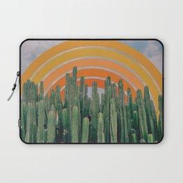 Cactus and Rainbow Laptop Sleeve